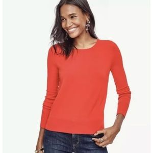 New ANN TAYLOR Red Button Cuff Sweater Rayon Blend